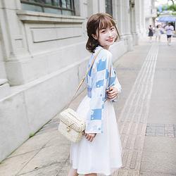 鹿韵记原创改良汉服女装南柯时尚风交领印花连衣裙日常汉元素秋