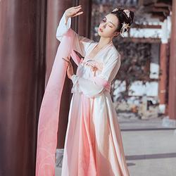 【披帛】梨花渡原创独家4米长披帛汉服搭配百搭齐胸对襟襦裙