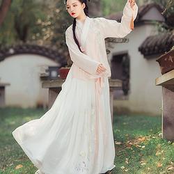 都城南庄云归原创新品春季汉服套装浅色绣花齐腰襦裙日常款汉服女