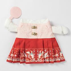 汉尚华莲传统汉服配饰啵妞可爱中国风猫衣服宠物服装冬季保暖