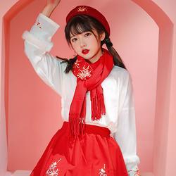 【流烟昔泠-念念】原创国风日常汉服女装汉元素时装春款短裙绣花