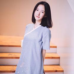 烟波 花朝记原创设计汉元素交领刺绣连衣裙秋款改良汉服 现货