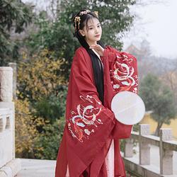 【凤鸾仙】梨花渡原创汉服女中国风配襦裙广袖超仙汉服绣花大袖衫