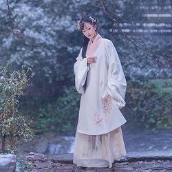 重回汉唐 释莲 汉服女冬装明制袄裙交领长袄中国风非 女套装