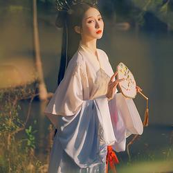 重回汉唐洛水瑶晋制汉服女原创齐腰襦裙中国风学生春秋女装套装