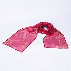 轻汉坊(红尘披帛发带)雪纺30d烫金披帛发带搭配齐胸襦裙