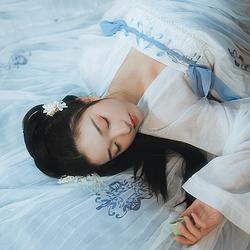 云梦泽#漱玉词汉服原创汉元素6米齐胸襦裙刺绣印花唐风