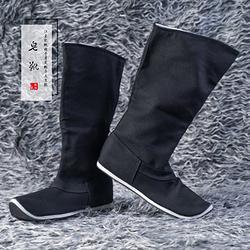 赭颜汉服 皂靴 【江东记】汉服配饰鞋靴纯棉千层底皂靴纯手工