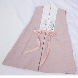 春下春款汉元素比甲  女款 双层棉麻刺绣