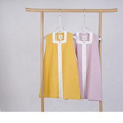 春下春款汉元素比甲  女款 双层棉麻刺绣 方领比甲