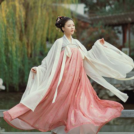 花想容恰似故人来系列花朝记原创宝相花印花刺绣对襟6米齐胸襦裙