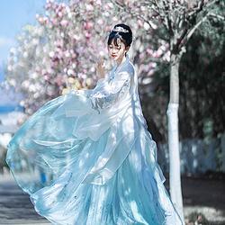 她说【羽笙】传统汉服女齐胸齐腰襦裙大袖衫