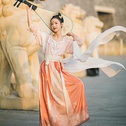 汉尚华莲原创虹玉汉服传统女装金鱼印花半臂搭配襦裙日常百搭上衣