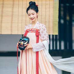 汉尚华莲原创传统汉服女装天璇印花对襟半臂日常衣裳春装百搭上衣