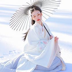 【流烟昔泠-妆晴雪】传统原创设计汉服女装绣花春款交领袄裙披风