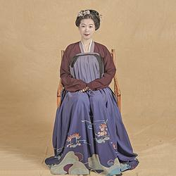 彧卿轻奢原创 蓬莱系列渐变色印花齐胸襦裙两件套-君洛 三米摆