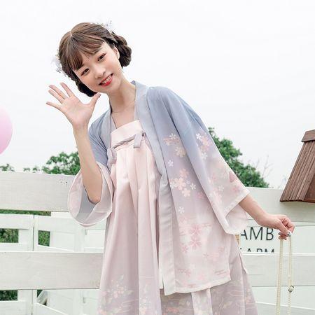 鹿韵记原创改良汉服元素女立夏齐胸连衣裙学生春季新品日常中国风