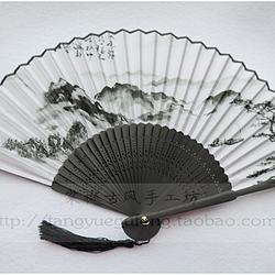 【棠樾古风】水墨远山古典中国风7寸绢布小折扇(礼盒装)