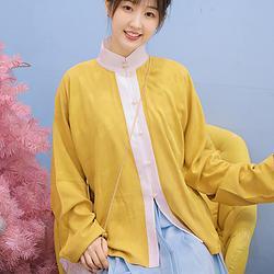 她说汉家衣裳大明少女节气传统立领汉服对襟日常百搭春夏上衣