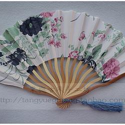 【花色】小清新印花古风工艺品绢布七寸龙形折扇