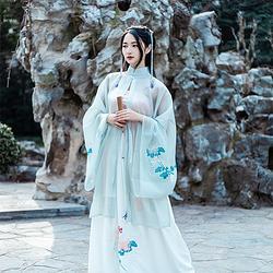 仑灵:东篱 池夏原创设计改良汉服中国风闺门披主腰裙套装菊花茱萸