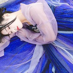 鲸鹿原创《满河星》星空系列齐胸襦裙两片式齐胸襦裙汉服