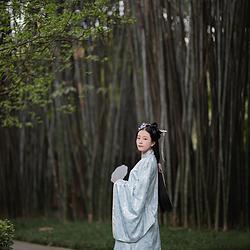 汉懿阁【花满园】原创明制春夏新款一片式织金马面现货汉服4.5米