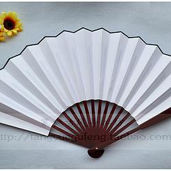 【棠樾古风】10寸空白绸布男扇书画大扇子