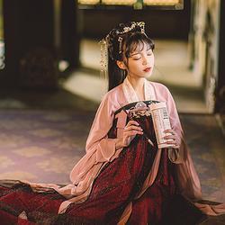 汉尚华莲蛰龙汉服齐胸襦裙高腰原创正版套装中国风日常唐制春夏装
