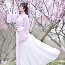 如梦霓裳汉服女装对襟襦裙梨花谣印花春夏季原创日常新款