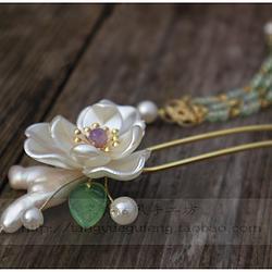 【晴雪/三】棠樾古风巴洛克异形珍珠古典盘发装饰可拆流苏发钗