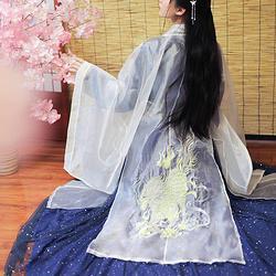 【麒麟】纨素  六色三根纱重工绣花唐制大袖衫 汉服