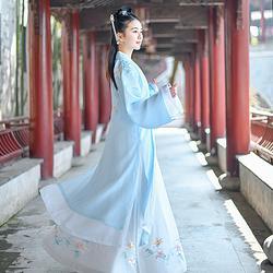 如梦霓裳汉服女装姐妹装褙子襦裙霓仙曲刺绣花春夏季原创新款日