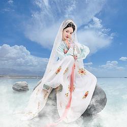 都城南庄汉服上官月原创新品浅色齐胸襦裙日常款女传统汉服