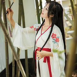彤钰花朝记汉服原创设计刺绣交领汉元素吊带裙日常文艺日常女装