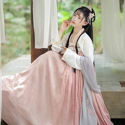 【花祭】梨花渡6米大摆古中国风传统汉服原创齐胸对襟襦裙春夏装