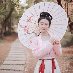 【浮莲】花朝记原创定织面料对襟短衫短褙子外搭齐腰裙汉服女装