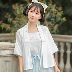 【流烟昔泠-水】镜花水月夏款绣花原创改良汉元素汉服女装