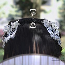 古风饰品汉服配饰流苏发饰古风蝴蝶发夹汉元素短发对夹超仙头饰