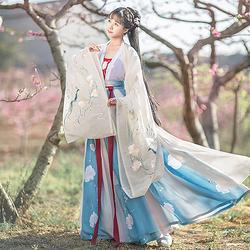 如梦霓裳汉服女装花神系列大袖衫山茶刺绣花日常夏季新款原创