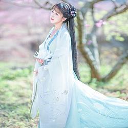 如梦霓裳汉服女装花神系列大袖衫水仙刺绣花日常夏季新款