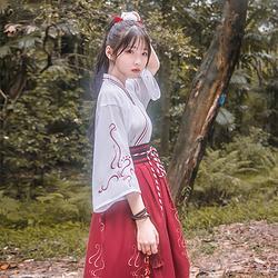 鹿韵记原创改良汉服女乐瞳交领套装春夏新品汉元素中国风日常