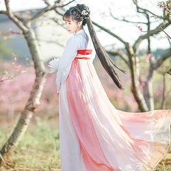 如梦霓裳汉服女装花神系列齐胸襦裙牡丹大裙摆刺绣花日常夏季新款