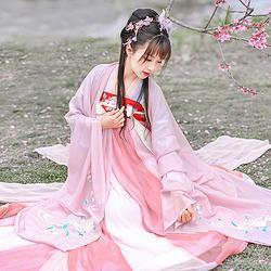 如梦霓裳汉服女装花神系列大袖衫牡丹刺绣花日常夏季新款
