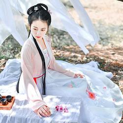 如梦霓裳汉服女装花神系列对襟襦裙石榴刺绣花日常夏季新款原创