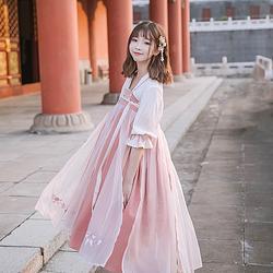 鹿韵记原创汉服改良连衣裙汉元素女娇嫣齐胸襦裙夏学生日常中国风