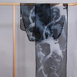 如梦霓裳汉服女齐胸齐腰襦裙披帛水墨重明3.5米印花日常汉服配饰