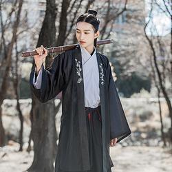 重回汉唐 玉枕纱 正品原创汉服男装对襟上衣长褙子外套夏季中国风