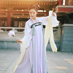 胧月 花朝记华服日走秀款 汉服绣花对襟一片式八破4米齐胸裙女装