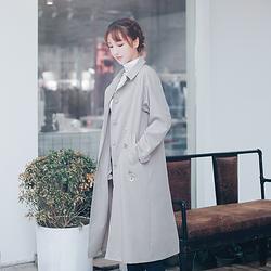 木槿◆蘸客时装 花朝记汉服旗下中长款风衣中国风春款女装外搭